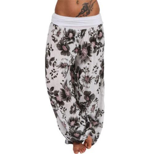 Plus Size Women Ali Baba Aladdin Harem Trousers Ladies Hippy Boho Pants Leggings