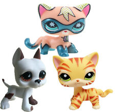 Littlest Pet Shop Comic Con Masked Superhero Shorthair Kitty& orange cat#826