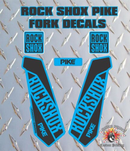 ROCK SHOX PIKE  FORK Stickers Decals Graphics Mountain Bike Down Hill MTB blue