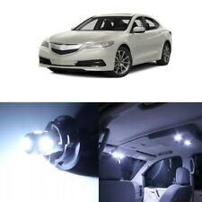 10 X White LED Interior Lights Package Kit For Acura TLX 2015   2018 + TOOL