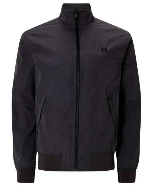 Harrington Jacket Made in England Schwarz J1101 Herren  6025 Fred Perry Jacke