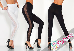 Unique-amp-Elegant-Full-Ankle-Length-Leggings-With-Lace-Sizes-8-20-LPL