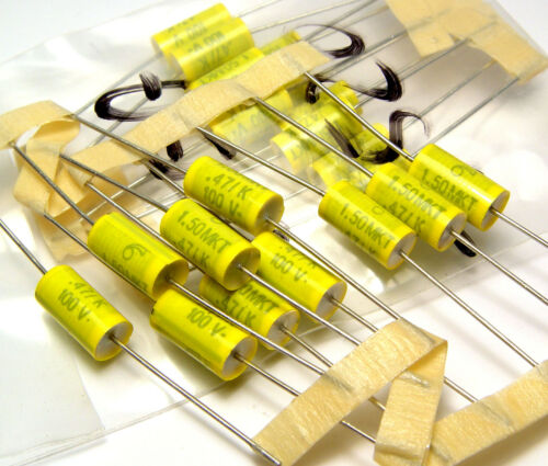 axial für Audio 0.47 µF // 100 V 20x Folien-Kondensator 1.50 MKT etc.