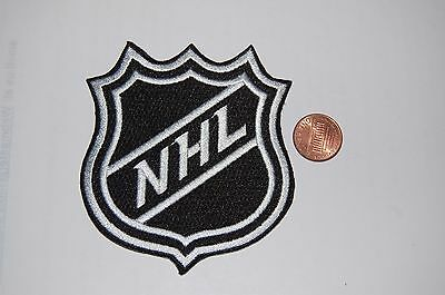 "NHL HOCKEY 3 1/2"" Logo Shield White Border"