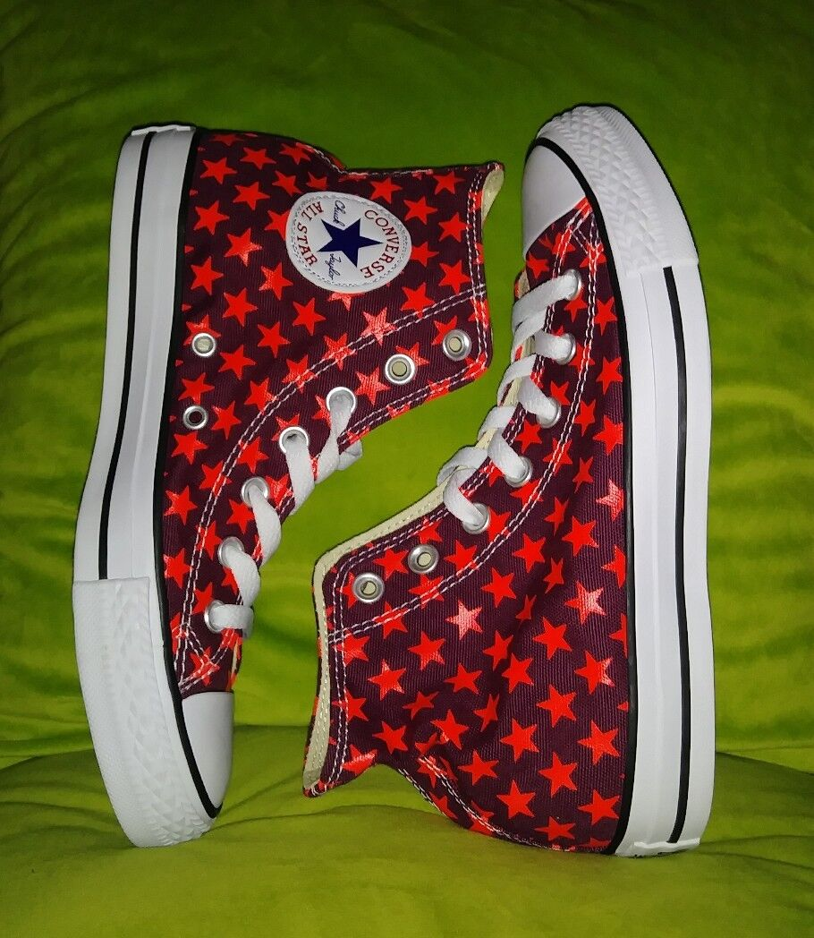 NEW Converse Chuck Taylor Star Red Repeat Pattern Sz Women's 8