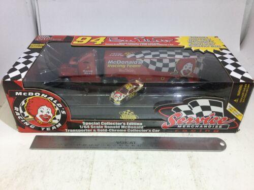 Vintage Racing Champions McDonalds Kenworth Semi Truck Bill Elliot CAR 1//64 MIB