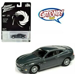 1//64 Johnny Lightning James Bond 007 2002 Aston Martin V12 Vanquish Grey JLSP096
