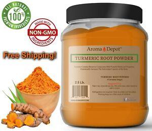 2.5lb Turmeric Root Powder 100% Pure Curcuma Longa Tumeric 40 oz JAR