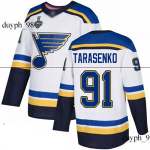 reputable site 7cddc d2767 Details about St. Louis Blues #91 Vladimir Tarasenko White Jersey 2019  Stanley Cup Final