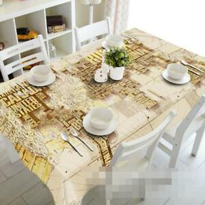 World Map Wallpaper Adelaide. Image is loading 3D World Map 6 Tablecloth Table Cover Cloth  Birthday Party Event