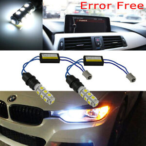 2x-BA9-64132-Error-Free-13-SMD-6000K-White-LED-Bulbs-For-BMW-F30-Parking-Lights