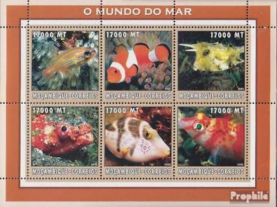Never Hinged 2002 World Of Marine To Enjoy High Reputation At Home And Abroad Stamps Mozambique 2644-2649 Sheetlet Unmounted Mint