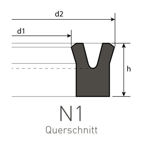 Nutring 30 x 40 x 10 mm aus PU Profil NP-1