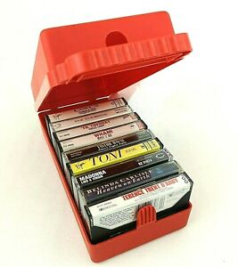 80s-Pop-Rock-Music-Memories-LOT-of-9-Cassettes-in-Original-Eighties-Red-Case