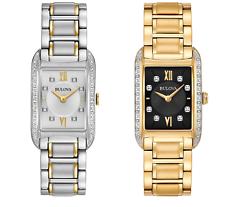 Bulova Women's Diamond Markers Quartz Silver-Tone or Gold-Tone 35mm Watch