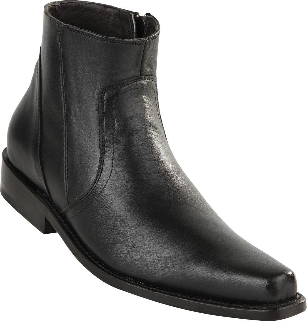 Para hombres Cuero De Vaca Genuino Original Michel Informal botas al Tobillo Cremallera Lateral