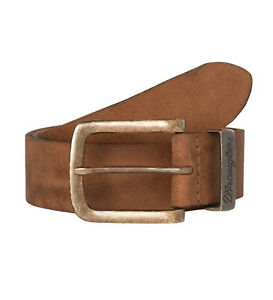 2372bf0b10351 Wrangler Mens New Metal Loop Leather Buckle Jean Belt Beige Cognac ...