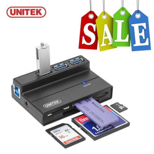 UNITEK 3 Port USB 3.0 Hub Multi Memory Card Reader Adapter For SD MS CF TF M2