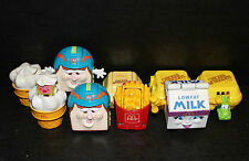 MCDONALDS TRANSFORMER TOYS LOT (9) CHICKEN MCNUGGETS FRENCH FRIES ICE CREAM