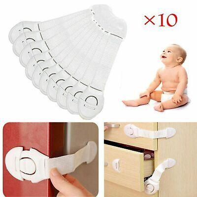 10X Kids Child Baby Cupboard Cabinet Safety Locks Pet Door Drawer Fridge Oven