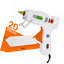 Hot Melt Glue Gun Dinfu Full Size 60//100W Dual Power with 20PCS Sticks for Arts