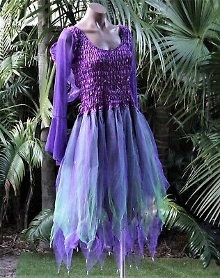 LILAC /& PINK PETITE Fairy Dress Party Dance Costume with Wings//Sleeves