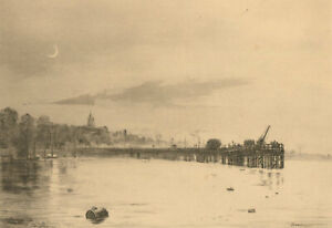 Percy-Thomas-RE-1846-1922-1888-Etching-Swanage-Pier