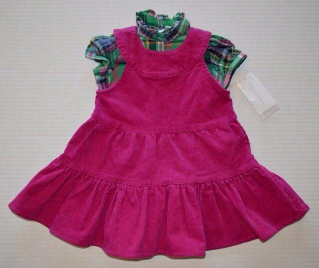 b82a004fa Baby Girl's Ralph Lauren 2-Piece Corduroy Dress & Plaid Shirt Size ...