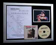 BRUNO MARS Locked Out Of Heaven LTD QUALITY CD FRAMED DISPLAY+FAST GLOBAL SHIP