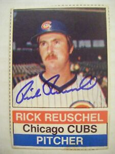 Rick Reuschel Signed Cubs 1976 Hostess Baseball Card Auto