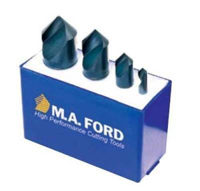 "4 Pcs M.A Ford 1//4/"",1//2/"",3//4/"" /& 1/"" x  82 Deg Uniflute Countersinks Set"