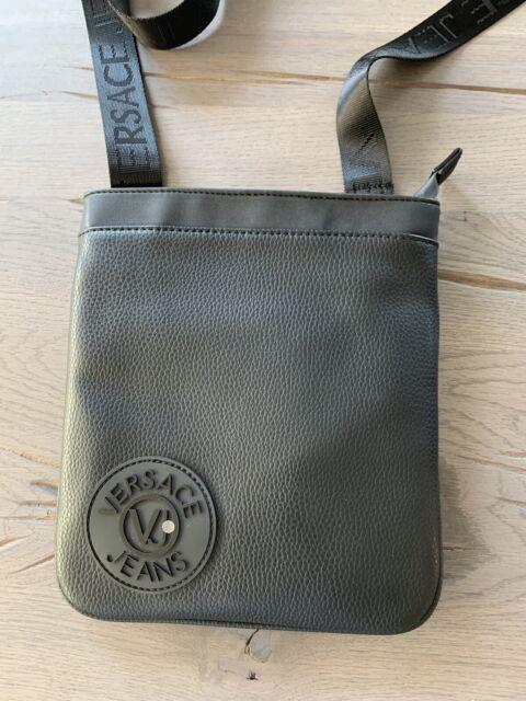 Versace Jeans Logo Patch Travel Shoulder Bag Messenger Tasche Umhängetasche