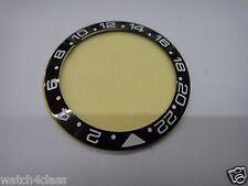CERAMIC Bezel Ring 43MM fits ROLEX GMT II 16710 16760 Ø40mm ENGRAVED Black White