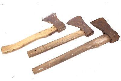 Werkzeuge 3 Stück Antike Axt Zimmermannsaxt Beil Spaltaxt Eisen Schmiedemarke Axtklinge Auf Der Ganzen Welt Verteilt Werden Antiquitäten & Kunst