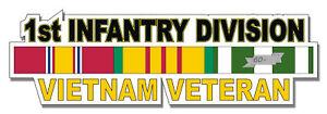 1st-Infantry-Division-Vietnam-Veteran-5-5-034-Window-Sticker-039-Officially-Licensed-039