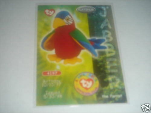 1999 TY BEANIE BABIES JABBER PLATINUM ED. TRADING CARD