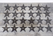 """12 Cast Iron Stars Washer Texas Lone Star Ranch 3 7//8/"""" Large Primitive Raw Craft"""