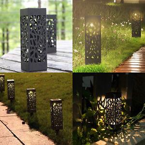 4x LED Solarlampe Solarleuchte Gartenlicht Außen-Beleuchtung Schattenlaterne DHL
