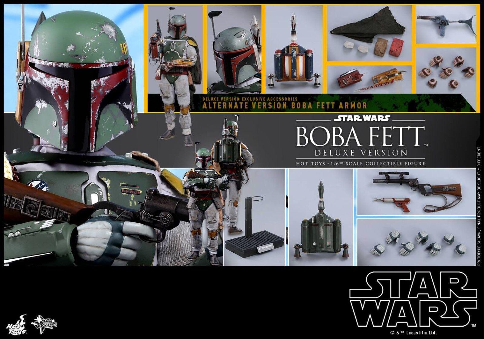 Hot Toys Star Wars Episode V 1 6 Boba Fett Deluxe Version UK seller brand new