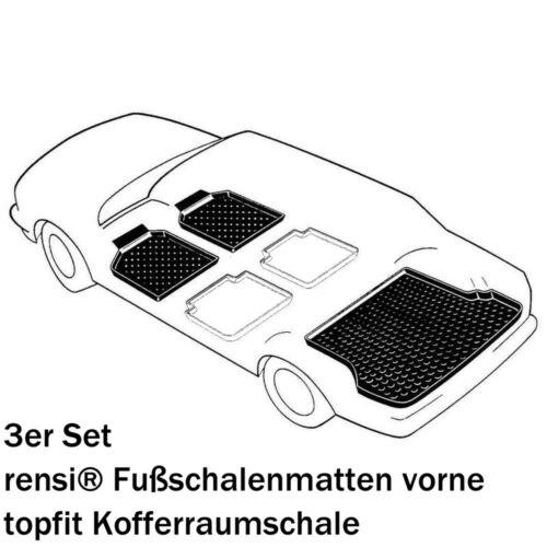 Audi a4 8w2 b9 set coche para maletero alfombrilla de Tina espacio de carga antideslizante Rensi 3d cáscara