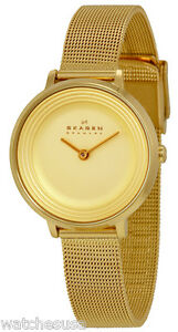 Skagen-SKW2212-Ditte-Champagne-Dial-Gold-Tone-Stainless-Women-039-s-Watch