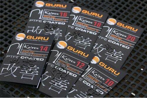 Free Delivery Guru Kaizen Spade End Barbless Hooks x 3 Packs *New*