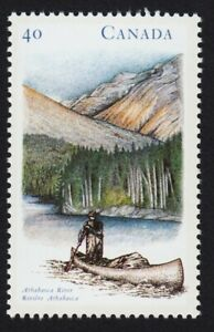 SOLD-CANOE-on-Athabasca-River-AB-Canada-1991-1322-MNH-VF