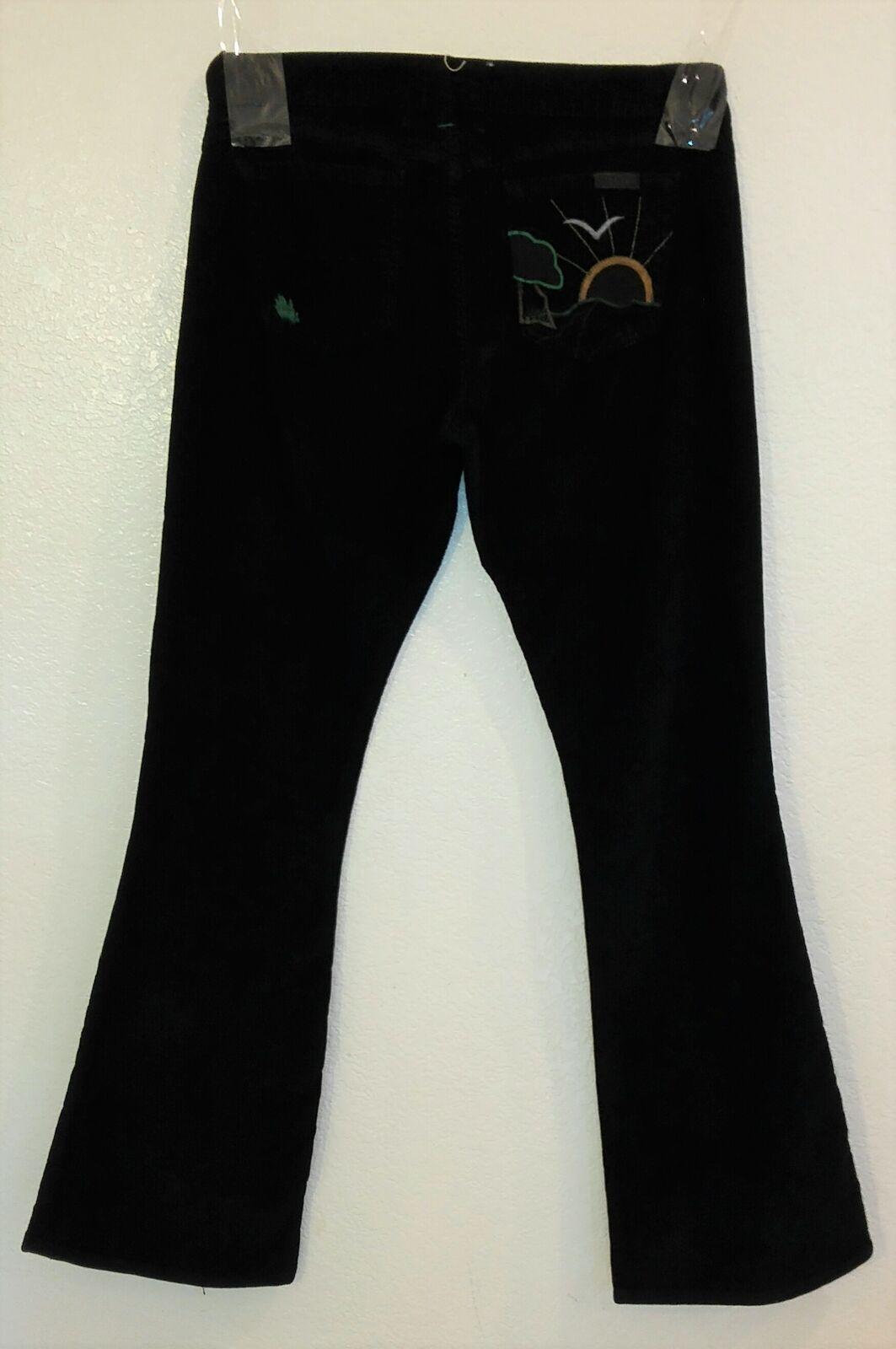 Nuevo Hierba los Ángeles de Campana Pantalones Pana women black C3543