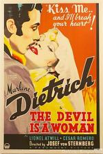 The Devil is a Woman Vintage Movie Poster Lithograph Marlene Dietrich S2 Art