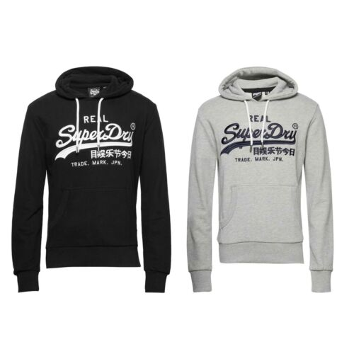 Details about  /Superdry Vintage Logo Mono Embroidered Hoodie