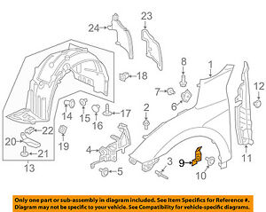 Front Driver Side Replacement Fender for 16-17 Civic HO1240192