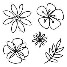 FLOWER's clear acrylic RUBBER STAMP! Brand NEW! 60-30324 inkadinkado LEAF TREE!!