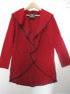 MOSER-Trachten-Long-Jacke-Dunkel-Rot-100-Wolle-Gr-38-NEU-o-Etikett