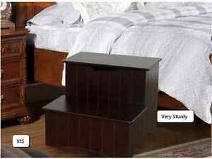 Bed Step Stool Sturdy Wood Furniture Dog Climb Up High
